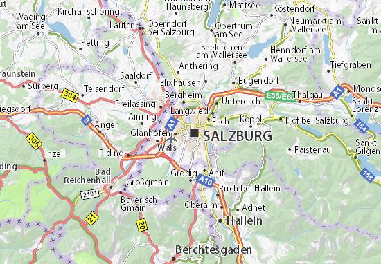 Kaart Plattegrond Salzburg