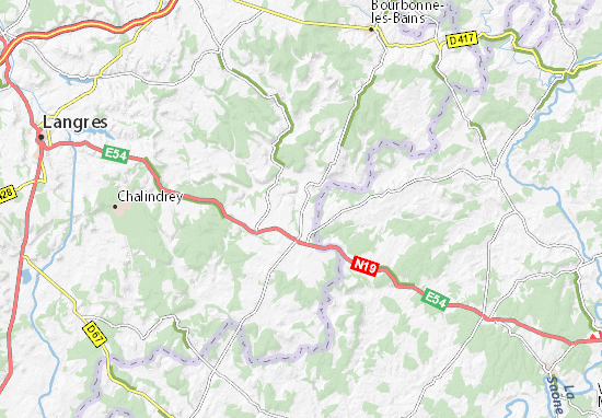 Kaart Plattegrond Pierremont-sur-Amance