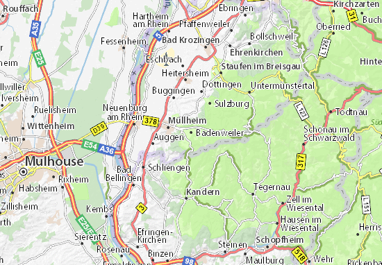 Carte-Plan Badenweiler