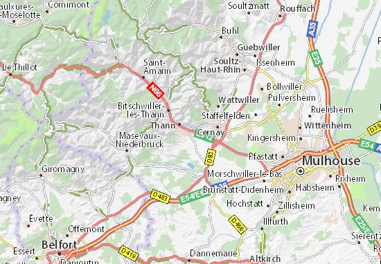 Carte-Plan Vieux-Thann