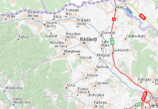 Volovăţ Map