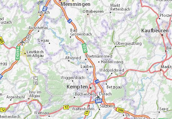 Dietmannsried Map