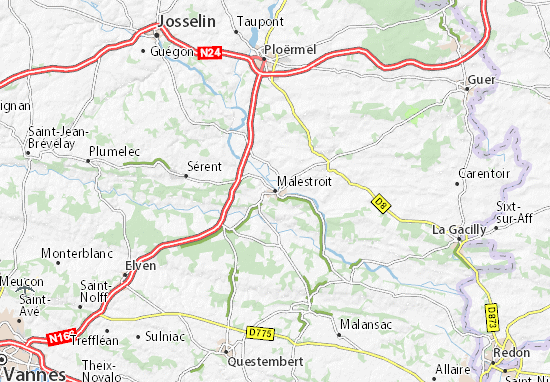 Karte Stadtplan Malestroit