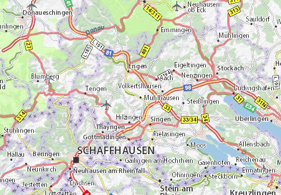 Karte Stadtplan Mühlhausen