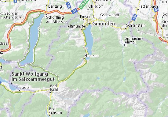 Kaart Plattegrond Ebensee