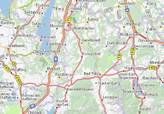 Königsdorf Map