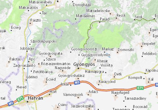 Gyöngyössolymos Map