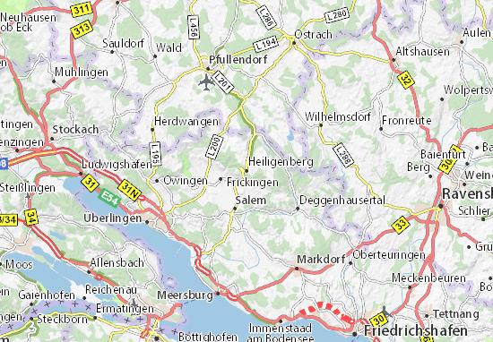 Karte Stadtplan Heiligenberg