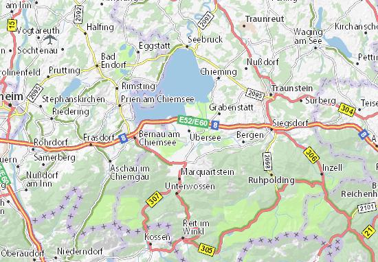 Karte Stadtplan Übersee