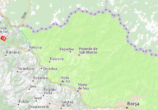 Mapa Plano Poienile de Sub Munte