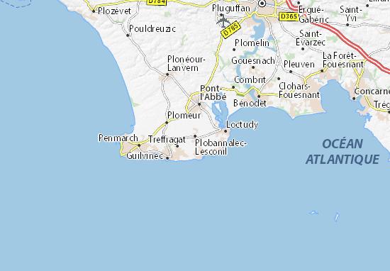 Plobannalec-Lesconil Map
