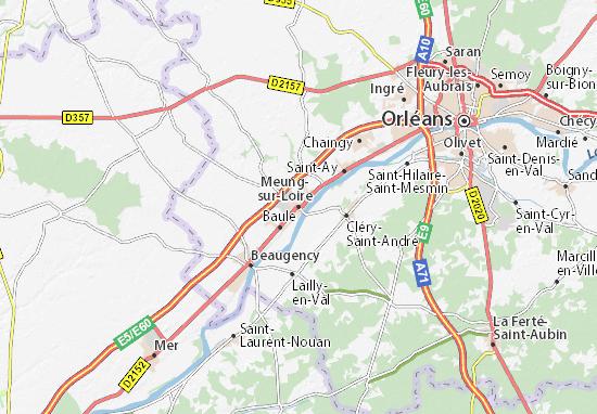 Carte-Plan Meung-sur-Loire