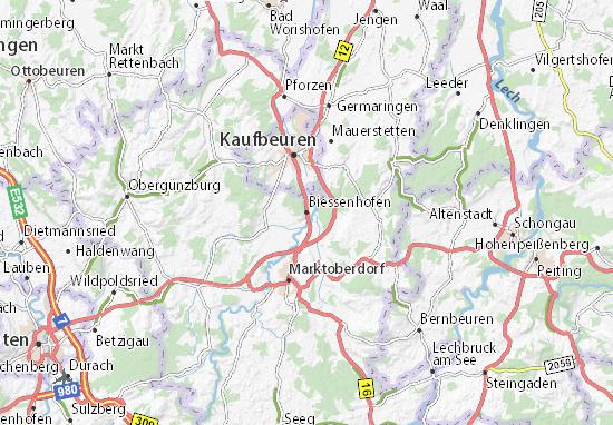 Karte Stadtplan Biessenhofen