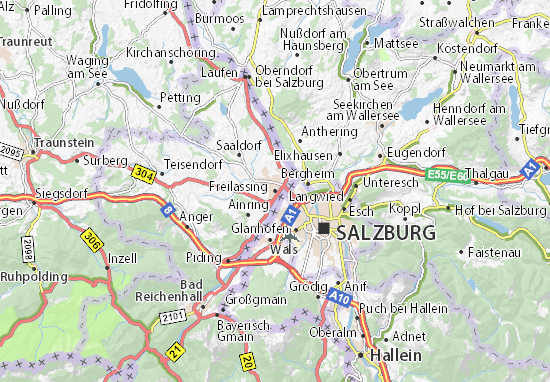 Mapa Plano Freilassing
