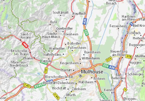 Kaart Plattegrond Pulversheim