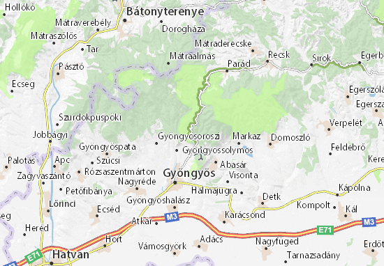 Benevár Map