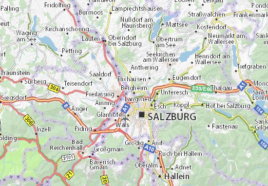 Mapa Plano Bergheim