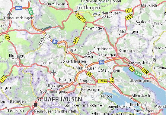 Karte Stadtplan Aach