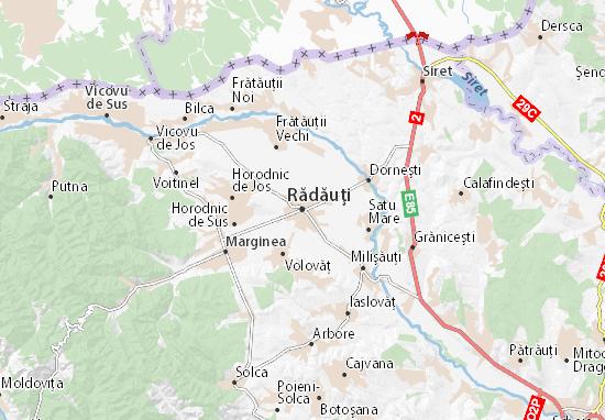 Kaart Plattegrond Rădăuţi