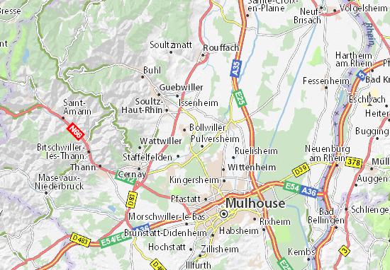 Carte Haute Alsace.Carte Detaillee Ecomusee De Haute Alsace Plan Ecomusee De