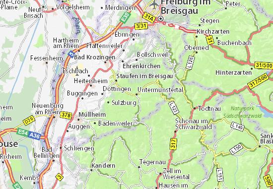 Karte Stadtplan Untermünstertal