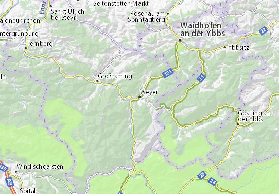 Karte Stadtplan Weyer