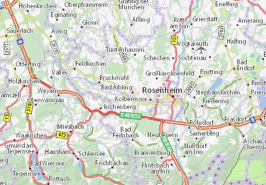 Karte Stadtplan Bad Aibling