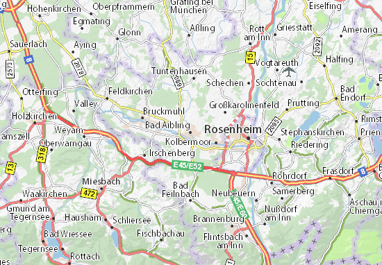 Karte Stadtplan Bad Aibling Viamichelin