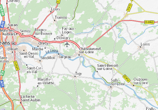 Mapa Plano Châteauneuf-sur-Loire