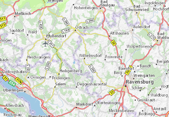 Wilhelmsdorf Map