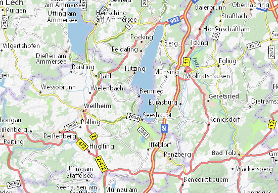 Karte Stadtplan Bernried