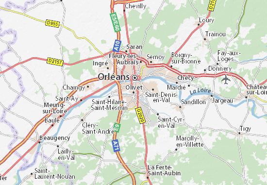 Mapa Plano Olivet