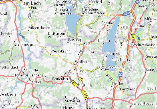 Wielenbach Map
