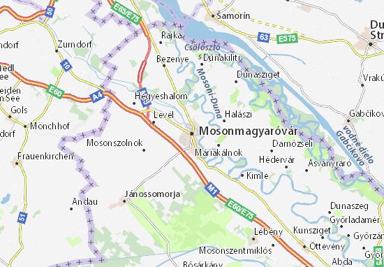 Mosonmagyaróvár Map