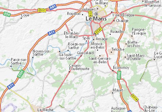 Carte-Plan Guécélard