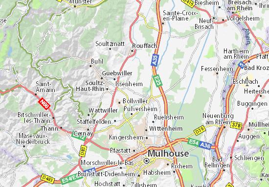 Carte-Plan Ungersheim