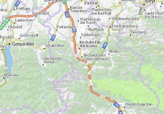 Mapa Plano Micheldorf in Oberösterreich