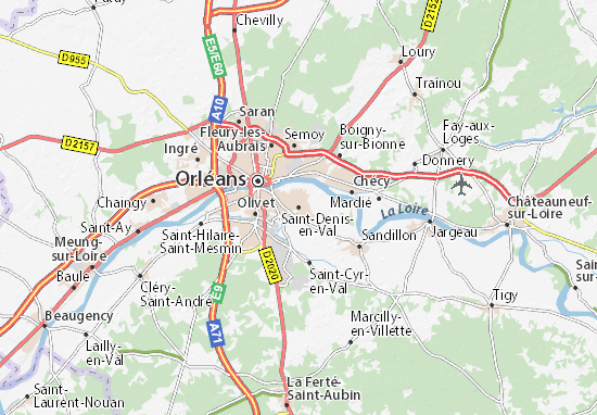 Carte-Plan Saint-Denis-en-Val
