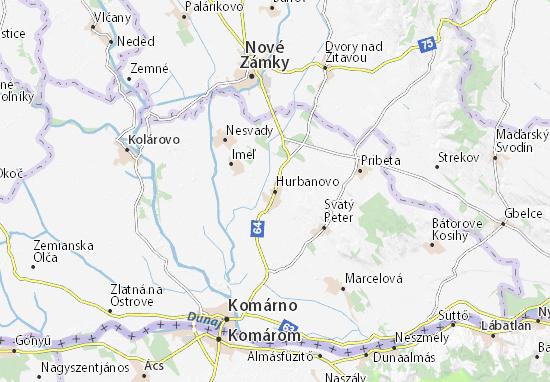 Carte-Plan Hurbanovo
