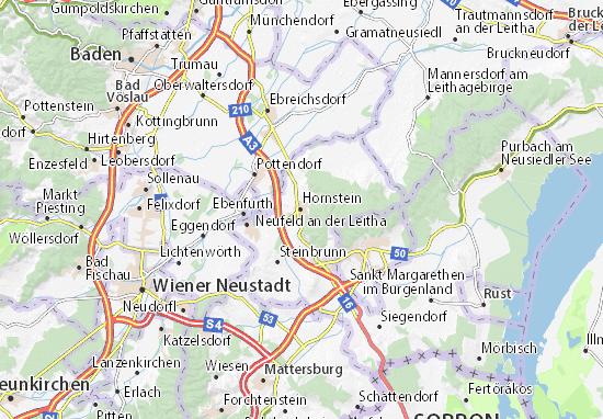 Karte Stadtplan Hornstein