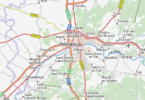Carte-Plan Saint-Pryvé-Saint-Mesmin
