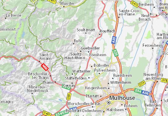 Mapas-Planos Soultz-Haut-Rhin
