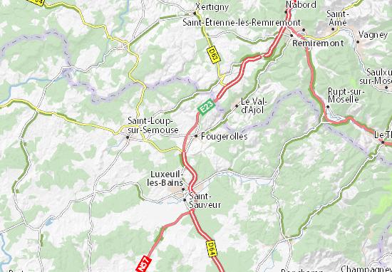 Kaart Plattegrond Fougerolles