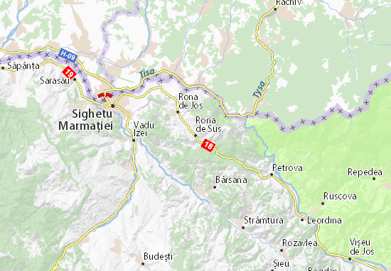 Rona de Sus Map