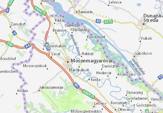 Halászi Map