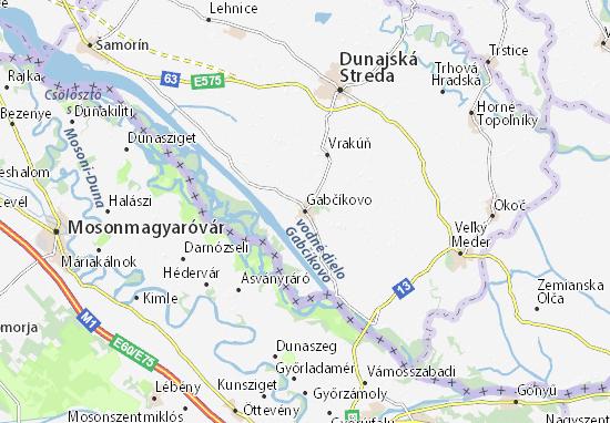 Carte-Plan Gabčíkovo