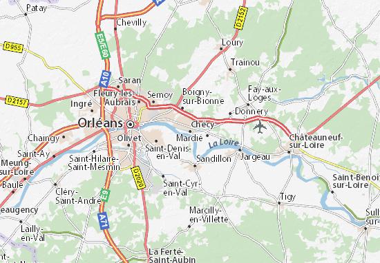 Chécy Map