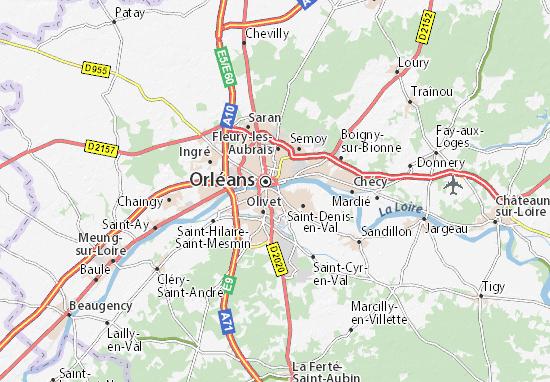 Mapa Plano Saint-Jean-le-Blanc