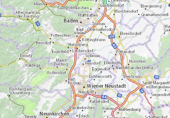 Karte Stadtplan Sollenau