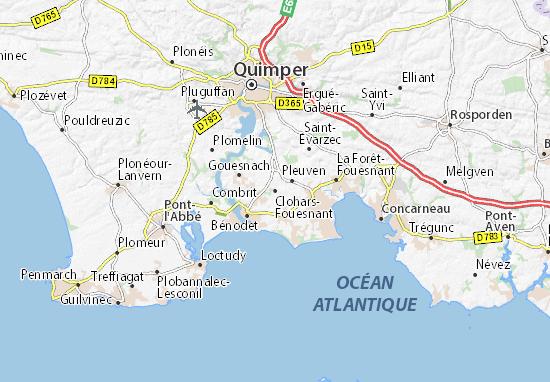 Clohars-Fouesnant Map
